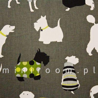 świetny wzór dla nastolatek - tkanina bawełniana na zasłony i dekoracje, dostępna w miniroom.pl