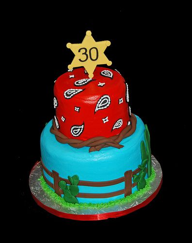 western themed cakes | 30th birthday western themed birthday cake with desert scene and ...