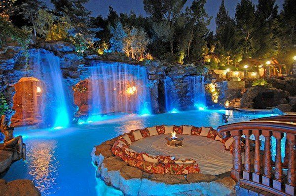 Unique pools with waterfalls – cool water features for the patio