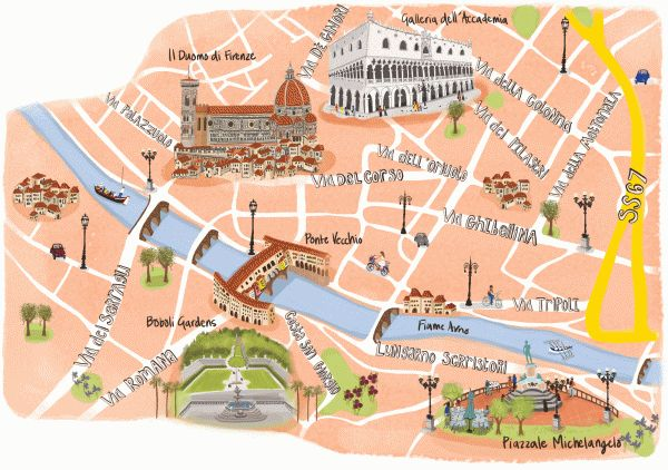 Florence Map by Naomi Skinner