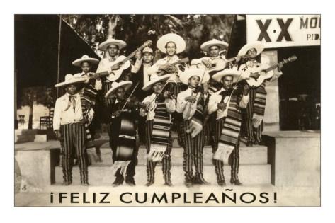 Feliz Cumpleanos - Mariachi Premium Poster