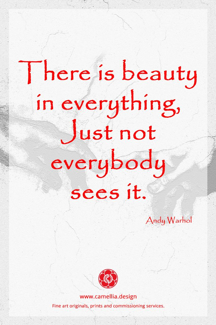 Inspiration From The Artist Andy Warhol Artquote Quote With