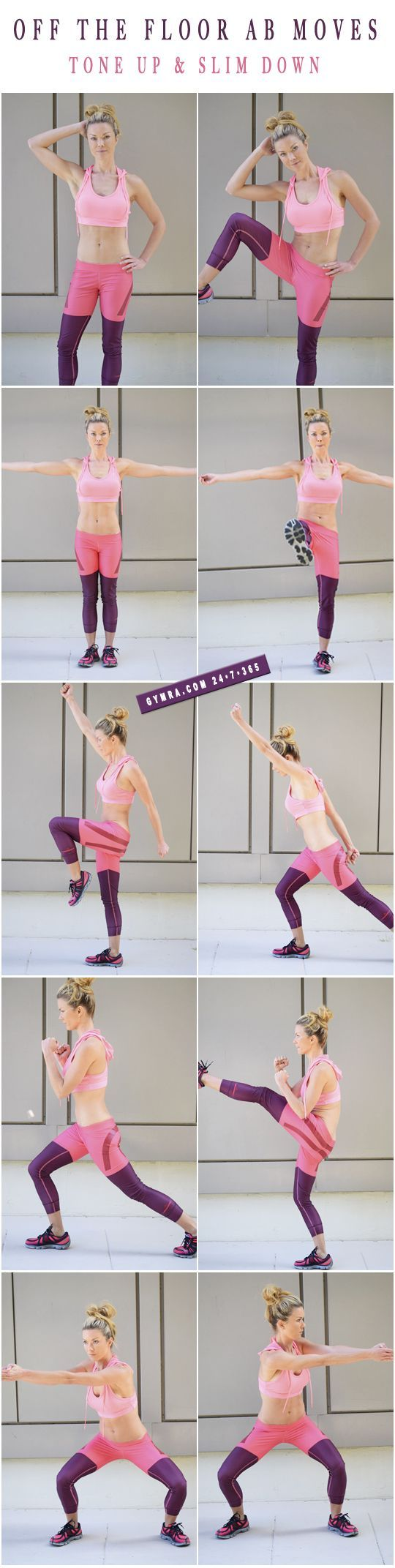 Standing Ab Moves.. great workout without crunches!