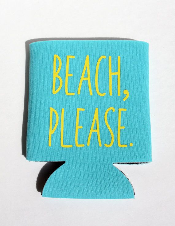 Perfect for keeping your beer cold while dreaming of the beach! Makes a great gift! BeBopProps on Etsy, $5.00