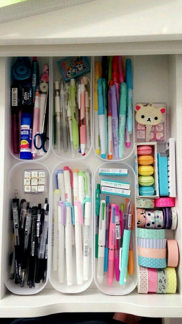 Diyschreibwaren Stationery Organization Stationary Organization Kids Room Organization