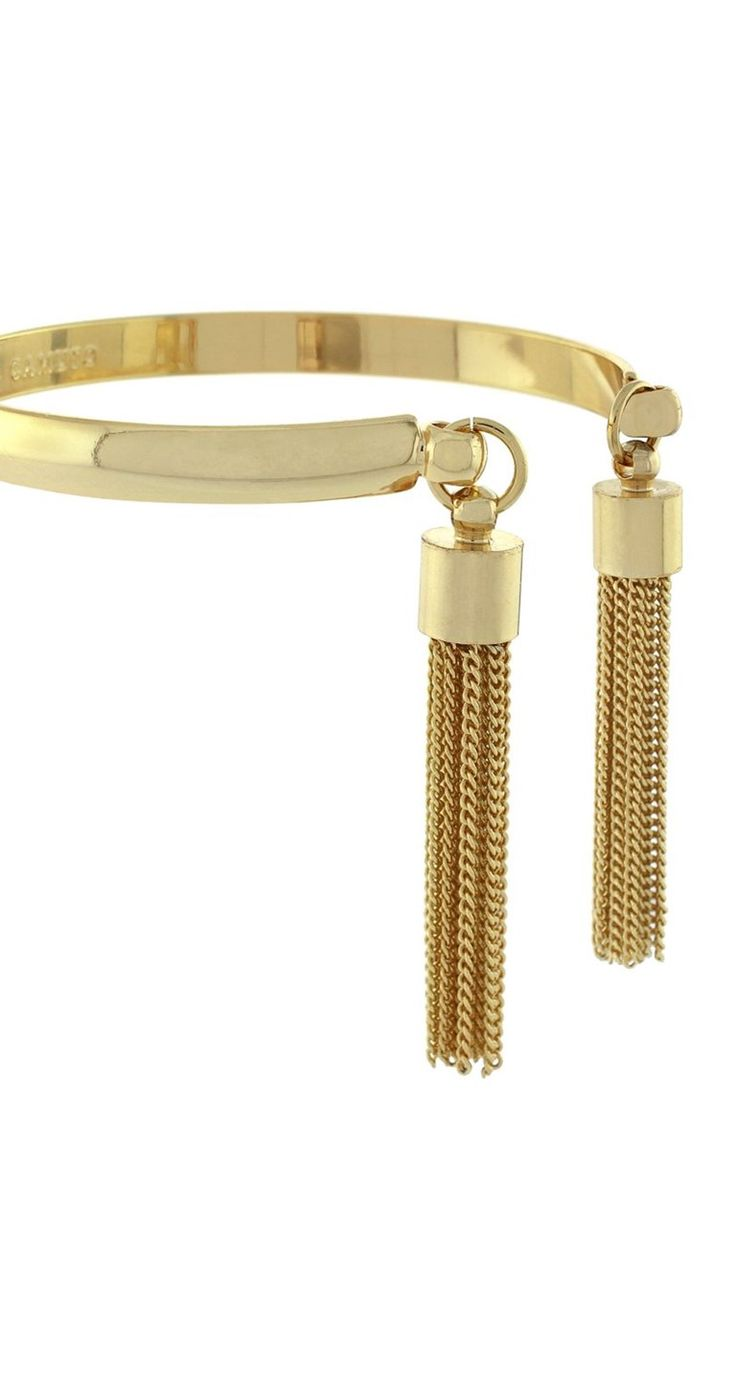 A gold tassel bracelet? Yes please!  This is sure to be a conversation piece.