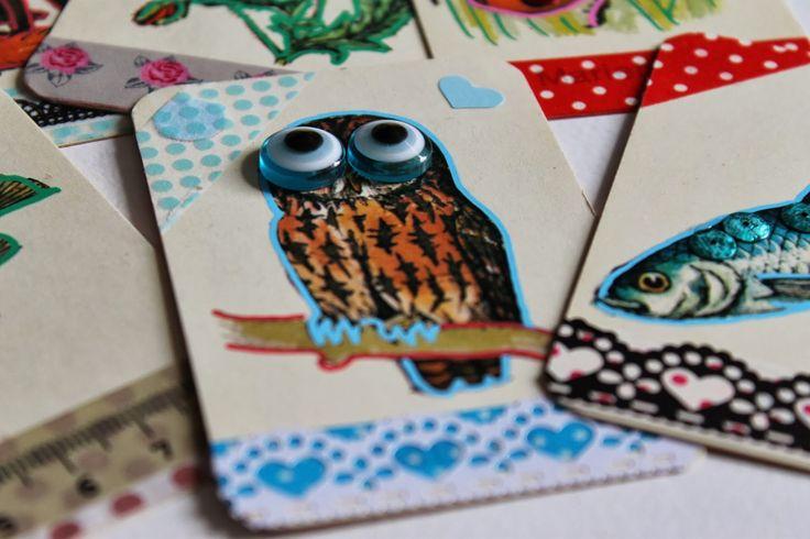 En kreativ verden: Sjov med gamle kort og en kvik gi`væk.