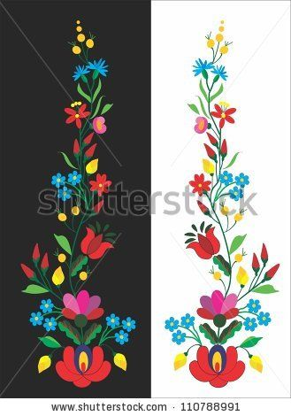 folk pattern - stock vector