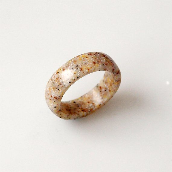 Sand ring Corian ring Corian jewelry Beige ring Sand by BDSart