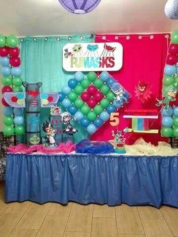 Festa de aniversário do Gabriel que festejou 5 aninhos, o tema foi os Pj Masks. Reserve já a sua festa antes que esgote...