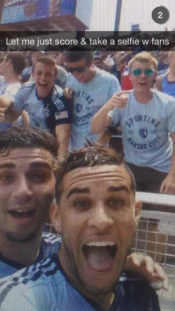 Chicago Fire tie Sporting Kansas City as Dom Dwyer takes the 1st goal celebration selfie