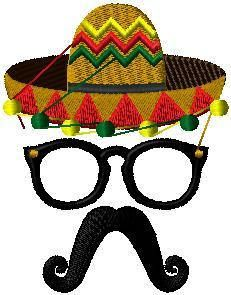 Mexican hat face iron on or sew on patch Mexican hat patch