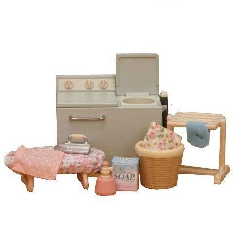 FLAIR - SYLVANIAN FAMILY - ENSEMBLE MACHINE À LAVER - <br>Machine à laver Twintub<br>Obtenez tous les vêtements de la famille  propres<br>Panier à lin