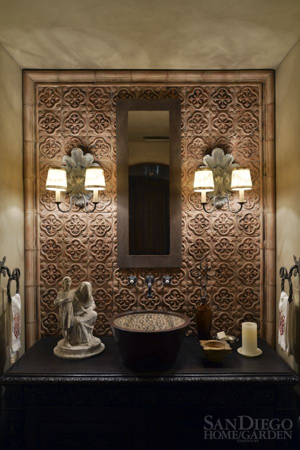 This La Jolla bathroom featured in SDHGL gets an Old World