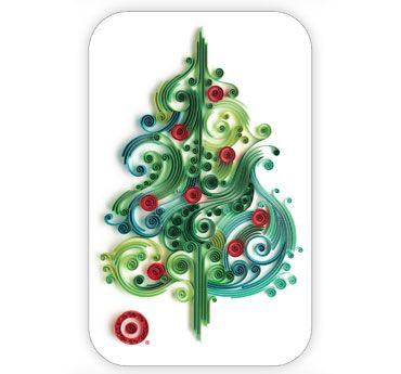 xmas tree: Christmas Cards, Xmas Trees, Paper Art, Paperart, Paper Quilling, Quilling Christmas, Paper Crafts, Christmas Trees, Yulia Brodskaya