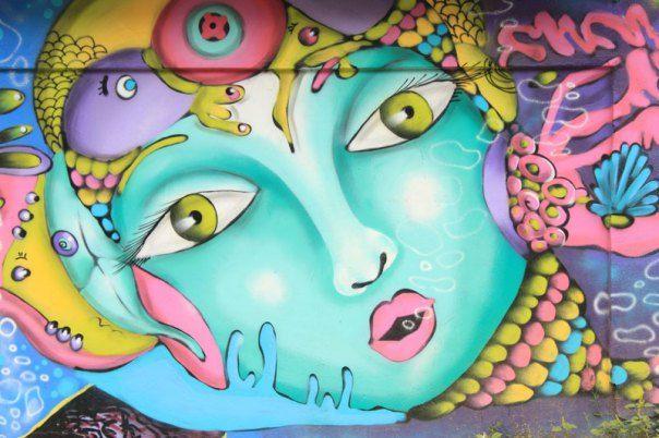 #Impulseearth #Valparaiso #Chile #Graffiti #Street Art #Face #Painting #Creativity #Mandala #Zentangle #Art #Colours