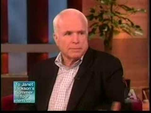 Ellen and John McCain discuss gay marriage. Inspiring. Maybe equal rights will one day be equal.