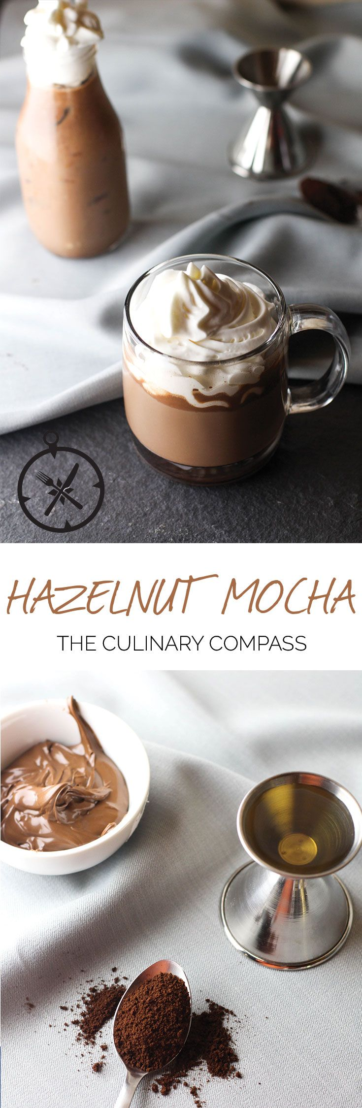 This Hazelnut Mocha is such an easy drink to make. You can never go wrong with a hazelnut, chocolate, and coffee combo! via @culinarycompass