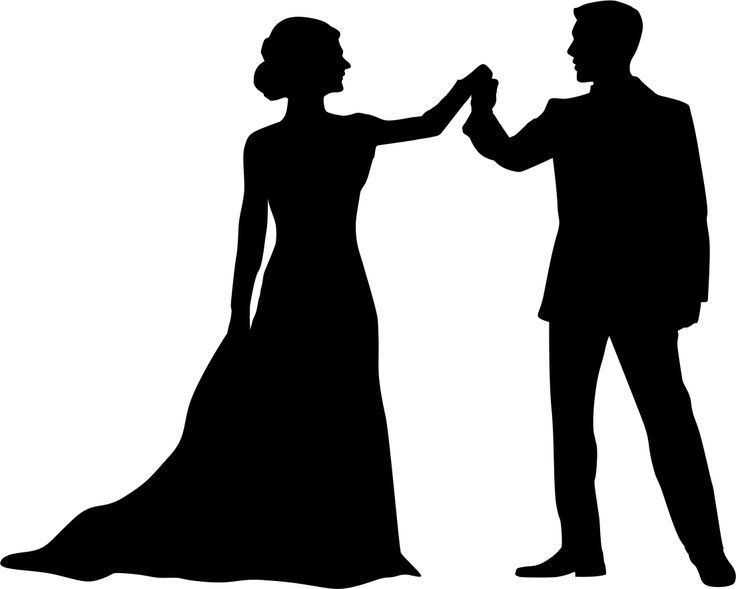 Couple - This silhouette has been converted to a line template that can be used for cut and fold book art.