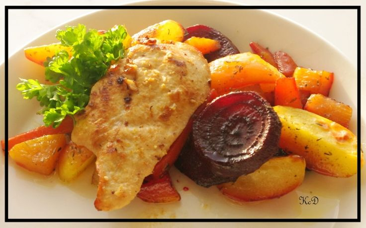 Lime N' Garlic Chicken & Oven-Roasted Vegetables inspired by The Replacement by Jason Pellegrini