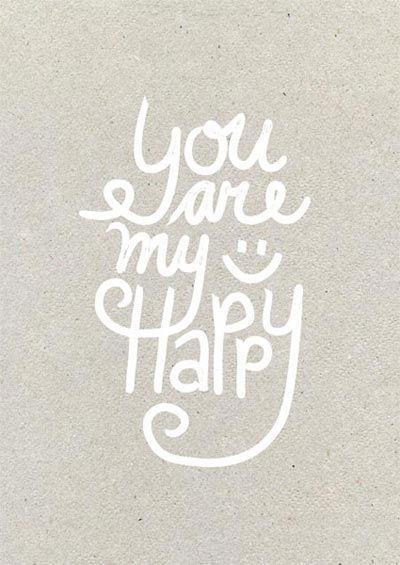 Happy page uit het Woonbeurs huis van vtwonen 2014: You are my happy #quote