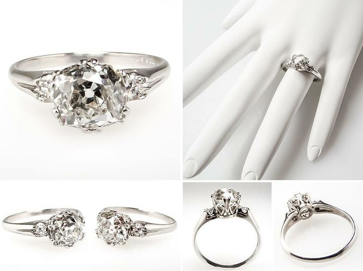 Diamond Flower Engagement Ring Pinterest 43