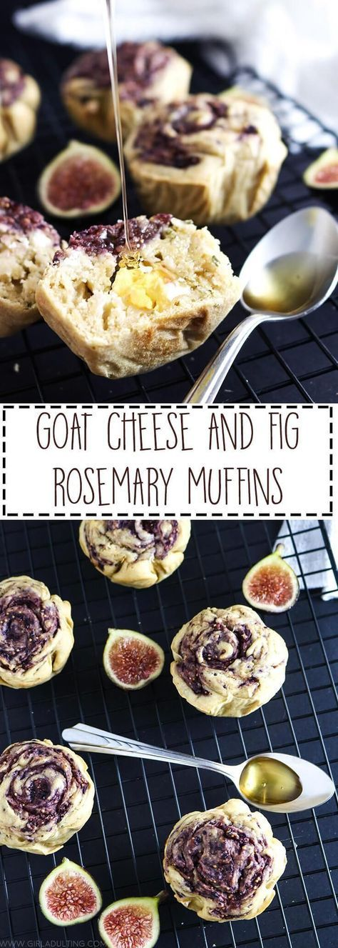 Goat Cheese & Fig Rosemary Muffins