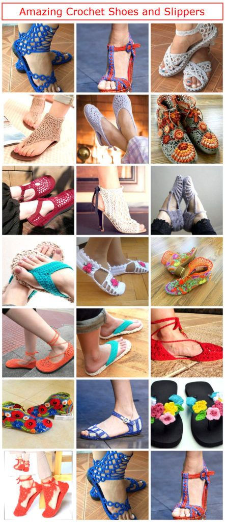Amazing Crochet Shoes and Slippers