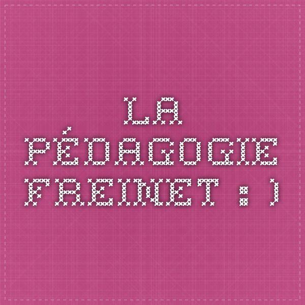 La pédagogie Freinet