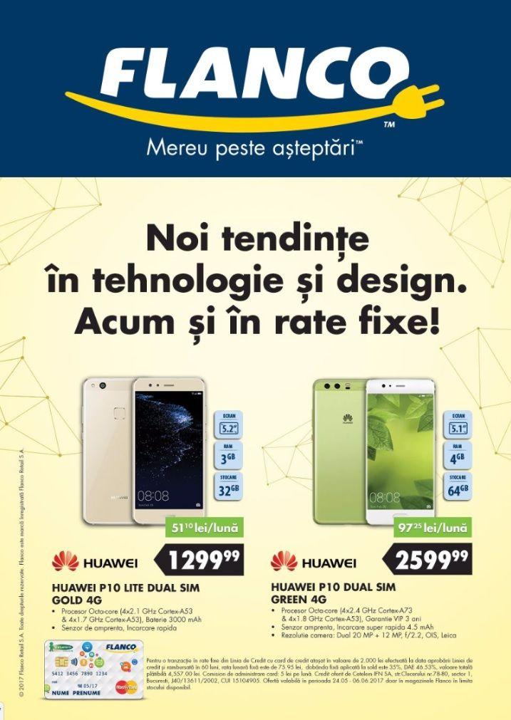 Catalog Flanco 24 Mai - 06 Iunie 2017! Oferte si recomandari: Telefon mobil Huawei P10, 64GB, 4G, Dual SIM, Verde 2.599,99 lei