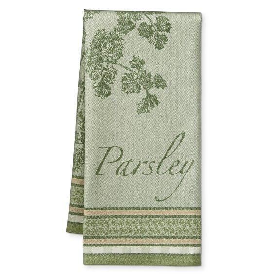 Botanical Herb Jacquard Towel Parsley Williamssonoma Linen Tea Towel Turkish Cotton Towels Kitchen Towels