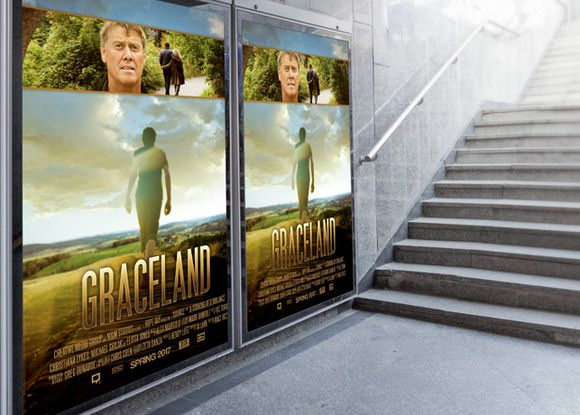 Graceland Movie Poster Template by loswl on Creative Market
