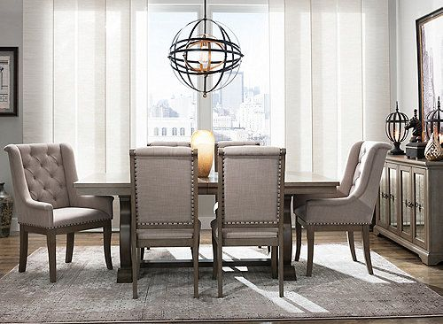 Lorient 7 Pc Dining Set Dining Room Sets Living Room Styles