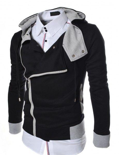 Doublju - Blusa Hood Masculina Slim Fit com Capuz (JC07) Compre roupas de qualidade, com design inovador e preço justo!