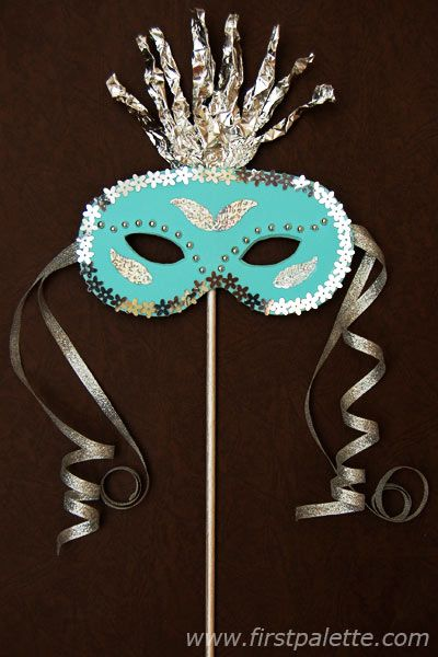 Create your own masquerade mask for Mardi Gras. First Palette shares their tutorial for this fun DIY Mardi Gras costume party craft.