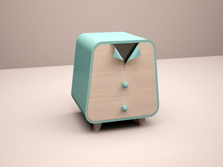 Unbutton Collection Cabinet by Cristina Bulat made in Romania on CrowdyHouse