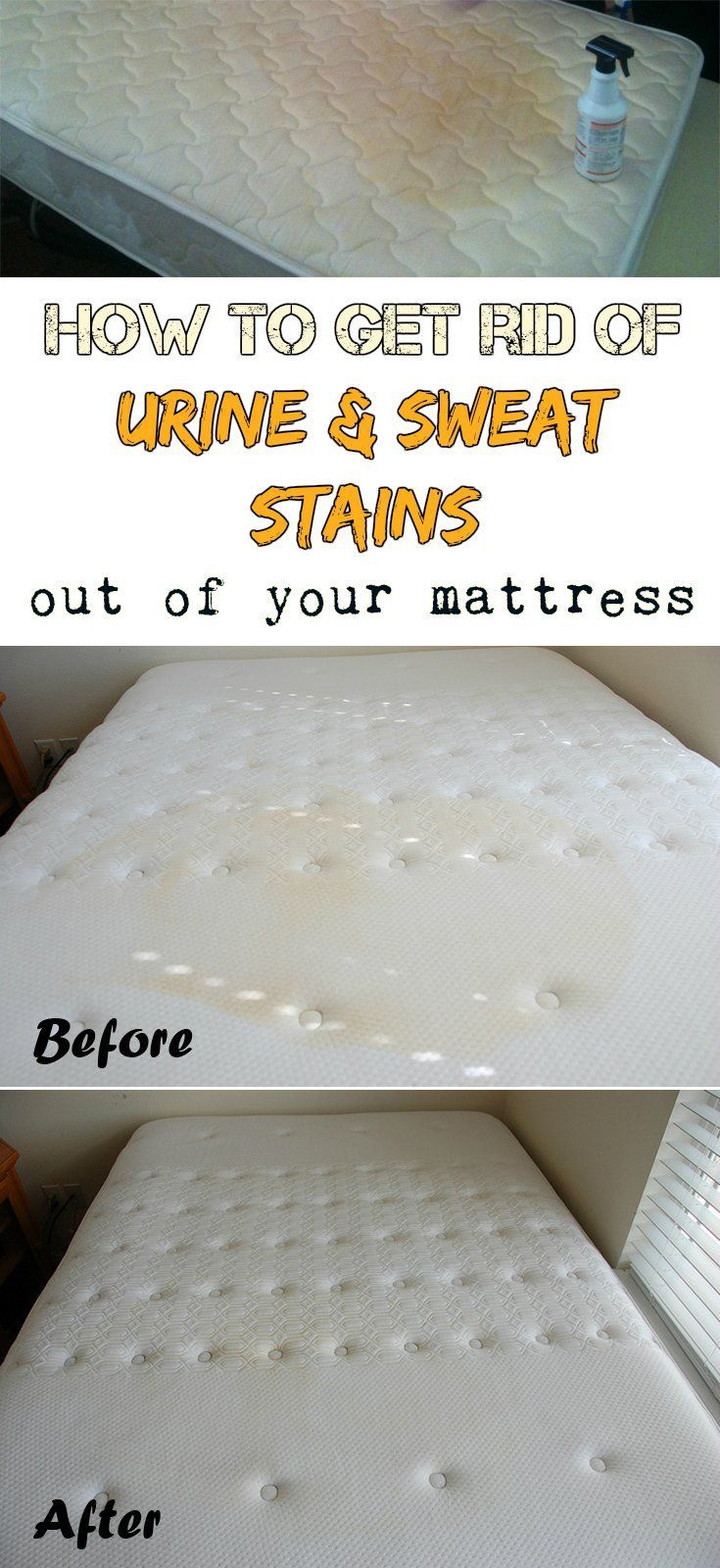 How to get rid of urine and sweat stains out of your mattress