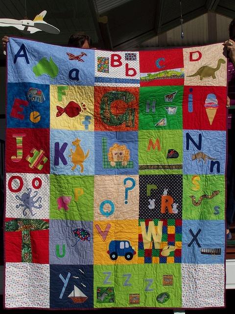 16 best Alphabet baby quilt images on Pinterest   Child, Art ideas ... : alphabet baby quilt pattern - Adamdwight.com