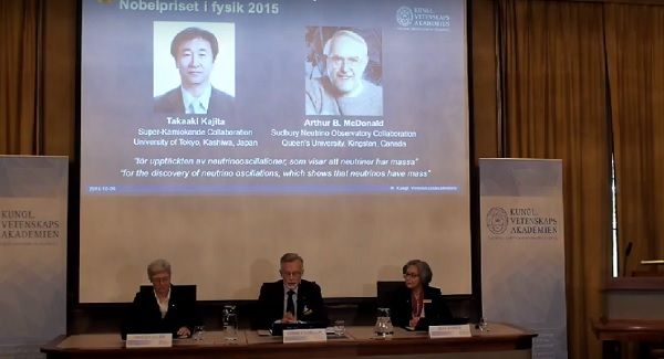 The Royal Swedish Academy of Sciences has announced the winners of 2015 Nobel Prize in Physics, and the winners are Takaaki Kajita from Japan and Arthur B. McDonald from Canada.