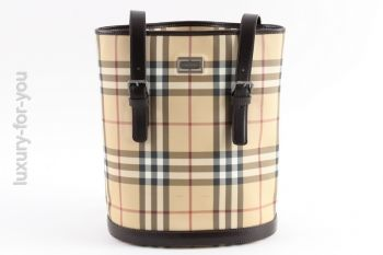 Burberry Bucket Nova Check PVC