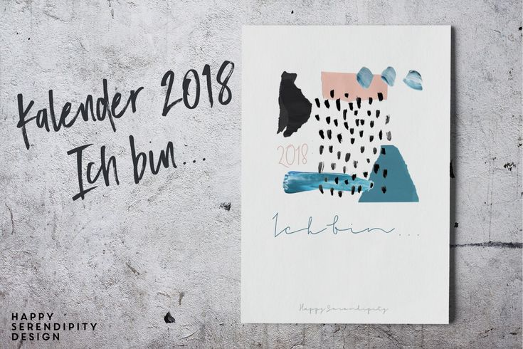 happy serendipity bildkalender 2018