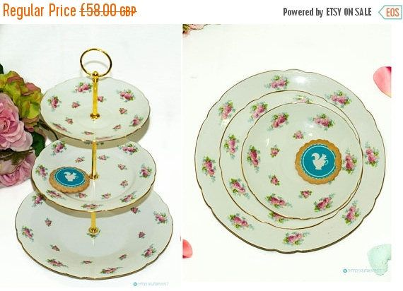 20% OFF SHELLEY Bone China 3 Tier Cake Stand. Shelley Late