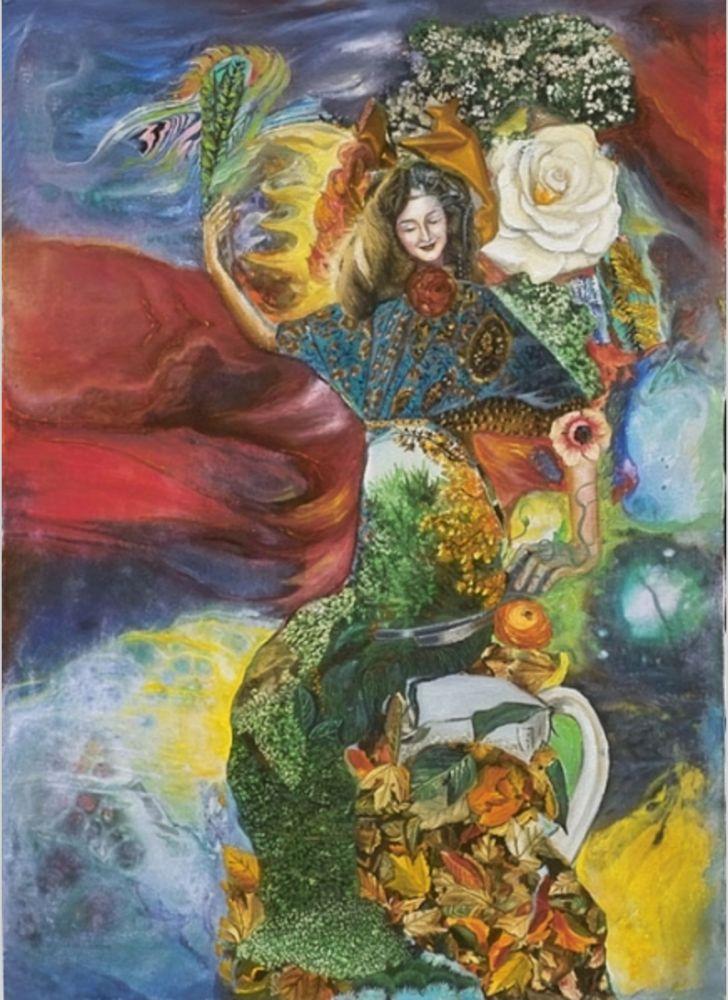"""6. Erol Deneç (1941 – ) ♥♥♥ (Üzerinde Bahar Çiçekleri Açmış) Erol Deneç 1960'ta İstanbul Tatbiki Güzel Sanatlar Akademisi'ne girer ve Anton Lehmden'den resim eğitimi alır. Lehmden'in evinde Deneç'in çalışmalarını gören Ernst Fuchs, """"Resim yapan Türk, Doğu'dan bize ulaşan bir ışık"""" şeklinde tanımladığı Deneç'i 1964'te Viyana'ya davet eder. Fuchs'un evinde 8 aylık bir çalışma sonucu beş ünlü profesörün bulunduğu sergiye katılan Deneç, Viyana'nın tanıdığı bir isim olur."""
