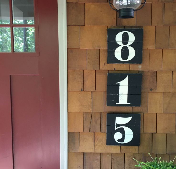 NUMBER WALL ART, Rustic house numbers, farmhouse decor, Subway numbers, Number artwork, Urban Farmhouse decor, House number wood sign by ElevenOwlsStudio on Etsy https://www.etsy.com/listing/333524364/number-wall-art-rustic-house-numbers
