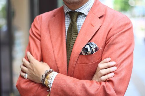 salmon sports coat - such a southern standard