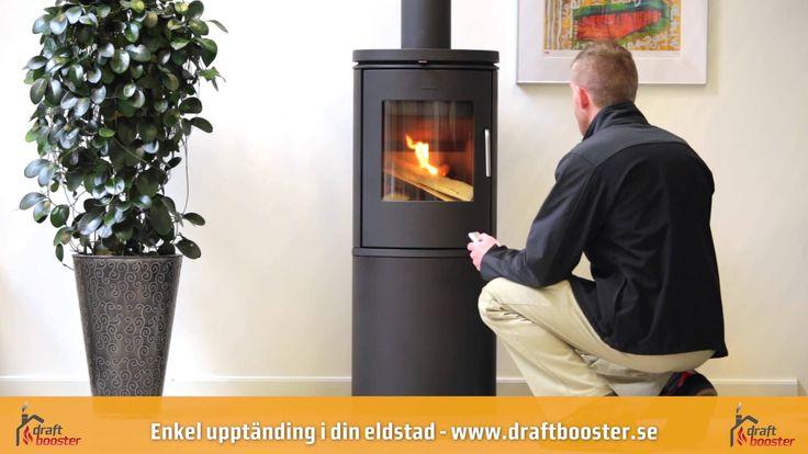 Draftbooster - Rökgasfläkt till din skorsten. Enkel upptändning i din el...