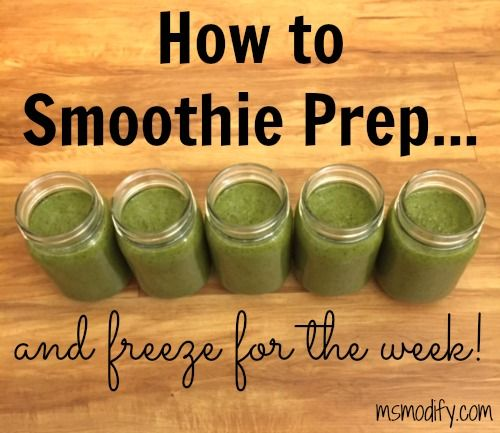 How to freeze a weeks worth of smoothies! Thaw in the fridge the night before and you're done! Easy way to get healthy and stay on track!