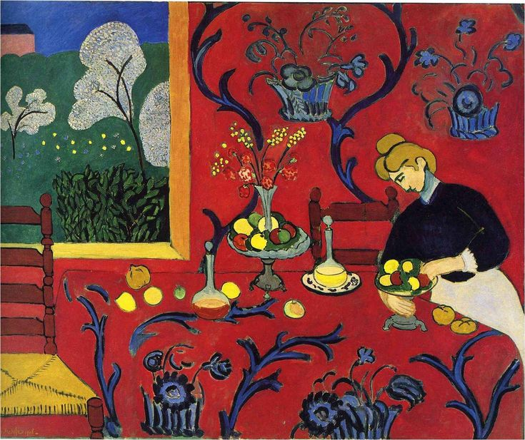 "Henri MATISSE, ""THE DESSERT HARMONY IN RED"" 1908"