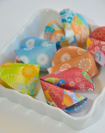 Make your very own fortune cookies from paper and share good fortunes with family and friends.