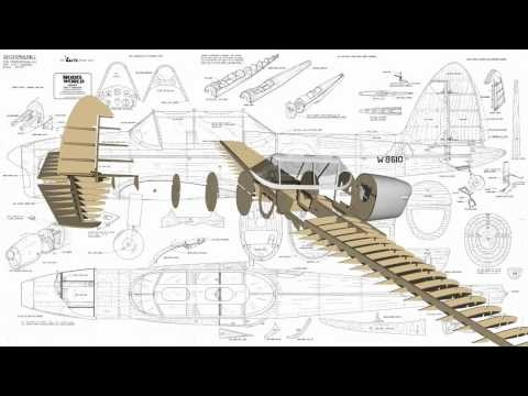 DHC-1 Chipmunk RC Model Wood pack - YouTube